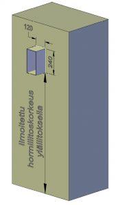 Ilmoitettu yläliitoskorkeus kertoo mitan lattiapinnasta liitosputken alareunaan. Yläliitoskorkeus kasvaa mahdollisten lisäkorotusten mukana saman verran.